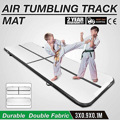 10Ft Air Track Floor Tumbling Inflatable Gym Mat Fitness Portable Training