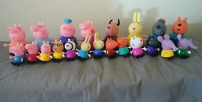 Peppa Pig Families & Friends Character Toys Figure Figurine Cake Topper x 18pcs