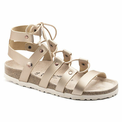 SPECIAL (WAS AU$169) Papillio by Birkenstock CLEO Leather Frosted Metallic Rose