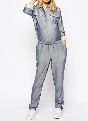ASOS Maternity Jumpsuit ONESIE Jeansblau Dungarees Umstands OVERALL Gr.38