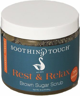 Brown Sugar Scrub, Soothing Touch, 16 oz Rest & Relax