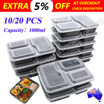Meal Prep Plastic Food Storage Containers Freezer Microwavable Lunch Box