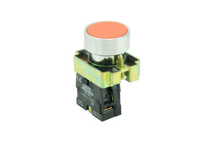 22MM Panel Mount Pushbutton Red & 1 Normally Closed Contact Block