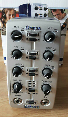 Lexicon Omega Desktop Recording Studio- USB Audio Interface Soundkarte 4-2 Kanal