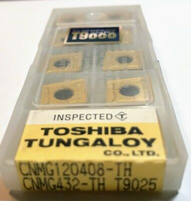 10 pcs NEW, UNOPENED TUNGALOY INSERTS CNMG432-TH T9025