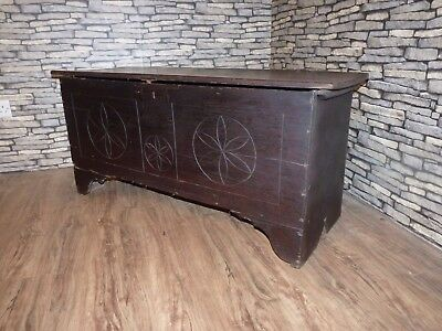 Ancient Antique Georgian Oak Coffer Circa 1810. Blanket, Toy, Storage, Linen Box
