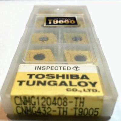 10 pcs NEW, UNOPENED TUNGALOY INSERTS CNMG432-TH T9005