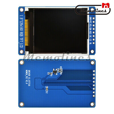 1.8''TFT Full Color LCD Display Module 128X160 Serial SPI ST7735S for Arduino