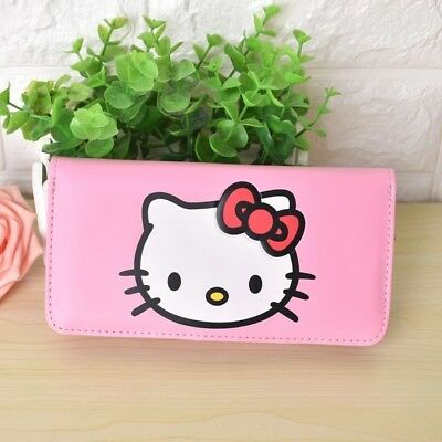 Hello Kitty Women s Long PU Leather Clutch Bag Coin ID Wallet Pink Purse  Gift f93ed831f2