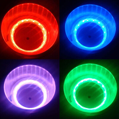 2pc Stainless Steel Cup Drink Holder 8 Blue LED Light For Marine Boat Car Truck