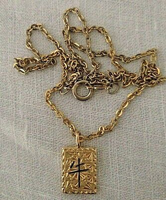 14K Gold Carved Hawaiian Pendant Chinese Zodiac Year of the Ox Vintage