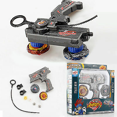 Metall Fusion Top Arena Master Rapidity Fight 2 Launcher + 2 Beyblade Set Toy