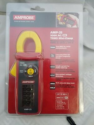 Amprobe Amp-25 300A Ac/dc Trms Mini-Clamp, Amp Clamp New In Clamshell !
