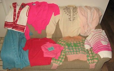 Lot of 9 Vintage 1950's-'1960's Lady's Sweaters, Small Sizes