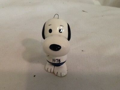 Vintage Snoopy 1976 Porcelain Ornament  United Feature Syn Japan