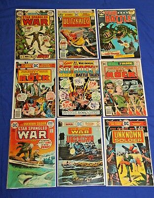 Sgt. Rock Prize Battle Tales 1 (1964) VG/FN and Bronze Age DC War Comic Lot Key