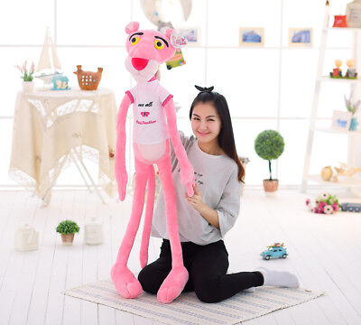 Pink Panther Plush Toy Stuffed Animal Doll Tall Birthday Valentines Day Gift 140