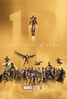 Skywalker Ranch Marvel Avengers First 10 Years Infinity War Movie Poster RARE!