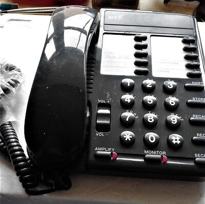 Vintage Black B.T. Converse 200 Telephone - made in Malaysia