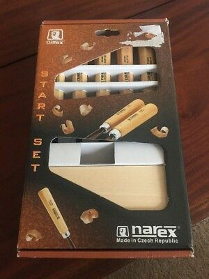 NAREX 5 pc set Professional Carving Tools Start Set NEW OPEN BOX Czech Made