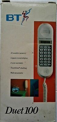"""Boxed White B T Duet 100 wall mountable Telephone - """"old new stock"""""""