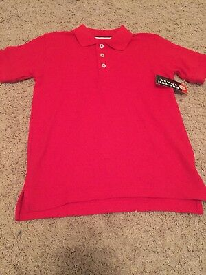 Lot of 4 French Toast School Uniform Red Polo Shirts Size S 6/7 - New with Tags