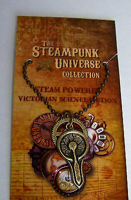 Steampunk Universe Pewter Pendant Necklace Tesla Coil Plasma Ball Made in USA