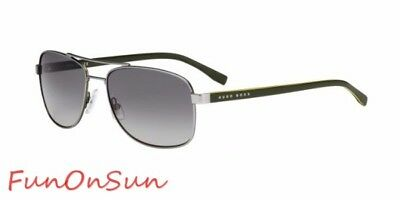 3c9515ae15 Hugo Boss Men s Sunglasses 0762 QJI Matte Ruthenium Khaki Brown Polarized  Lens