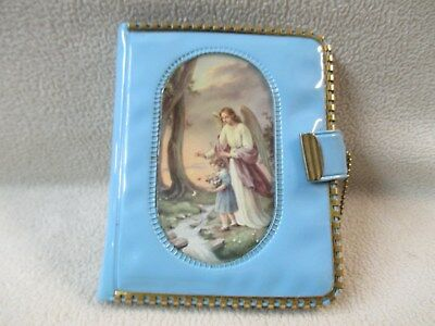 Vintage Religious Themed Plastic Wallet W/ Key Chain