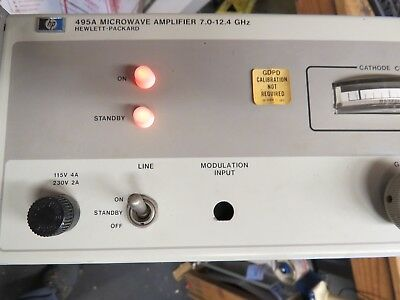 HP AGILENT 495A MICROWAVE AMPLIFIER 7.0-12.4 GHz