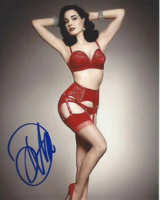 Dita Von Teese Signed Authentic Hot 8x10 Photo 4 Wcoa Burlesque