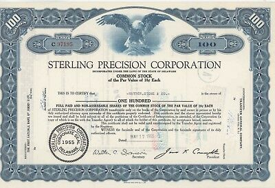 Sterling Precision Corporation, Delaware, vom 17.05.1961 - 100 Shares