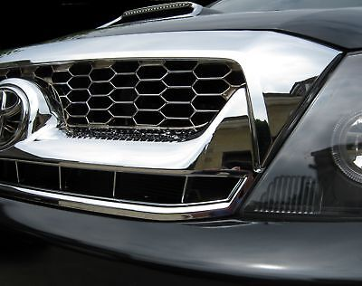 Chrome front grille for Toyota Hilux Mk6/Vigo grill pickup truck parts new 2005+