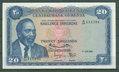 Kenya  Very Rare 20 Shillings  1968  P3  Xf ++ See Scan