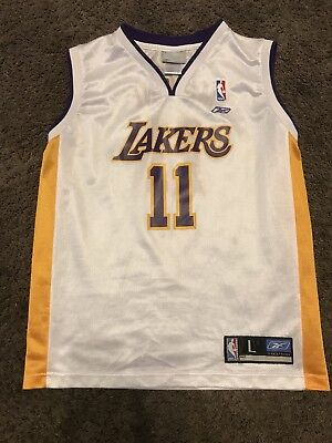 KARL MALONE  11 Los Angeles Lakers Retro Authentic Nike Jersey Hall ... 10ff86e10