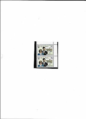 Anguilla Royal Wedding 1981 #5446 stamps  Extra Flag Staff Upper stamp (Lot 1)