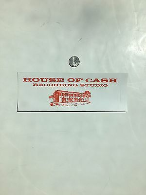 Johnny Cash House of Cash Recording Studio Personal File Rare Promo Sticker OOP