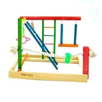 Penn Plax Bird Activity Play Gym Large Bird Toy Perch Cage