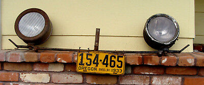 VINTAGE FORD 1928 Coupe Model HEADLIGHTS Bumper CAR TITLE Oregon License Plate