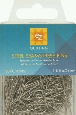 Steel Seamstress Dress Making Pins - 450 Each Pack -Ez Simplicity Brand  Bn