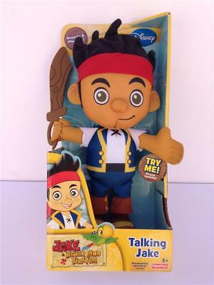 """New Fisher-Price Disney's Jake and The Never Land Pirates Talking Plush 12"""" Doll"""