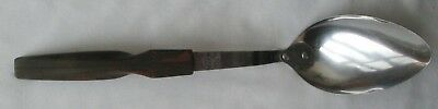 Vtg CUTCO Serving Spoon No.12 Brown/Orange Marbled Handle Stainless USA
