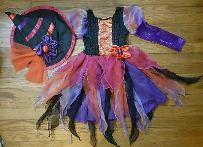 The Childrens Place Girls Witch Dress & Hat Size 5/6