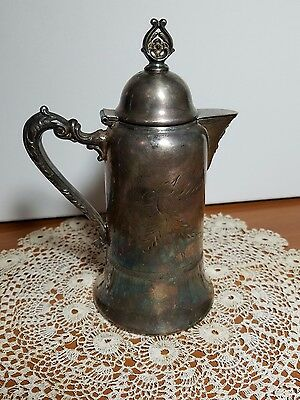 Antique Warren Silver Plate Co New York  Quadruple Plated Creamer Teapot #851