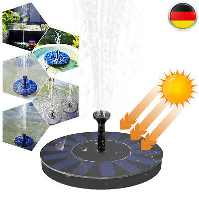 solar teichpumpe wasserspiel springbrunnen gartenbrunnen. Black Bedroom Furniture Sets. Home Design Ideas