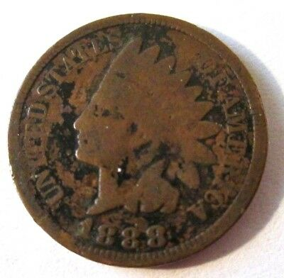 1888/7 Indian Head Cent Snow 2!