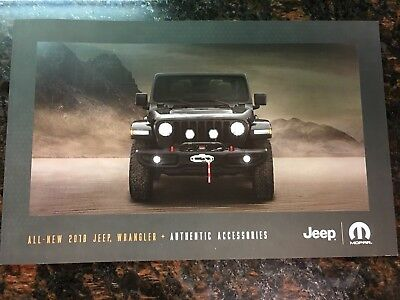 2018 JEEP WRANGLER ACCESSORIES 26-page Original Sales Brochure