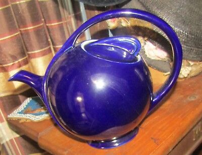 Lovely Vintage Hall Cobalt Blue Airflow Teapot