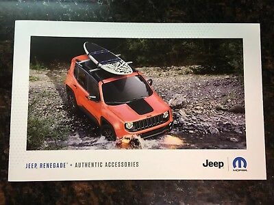 2018 JEEP RENEGADE ACCESSORIES 12-page Original Sales Brochure