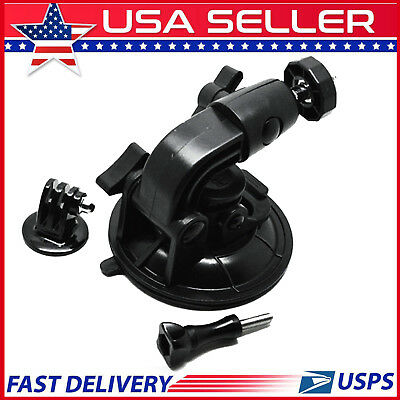 9CM Car Suction Cup Mount + Tripod Mount Adapter+Screw For Gopro Hero 4/3+/3/2/1